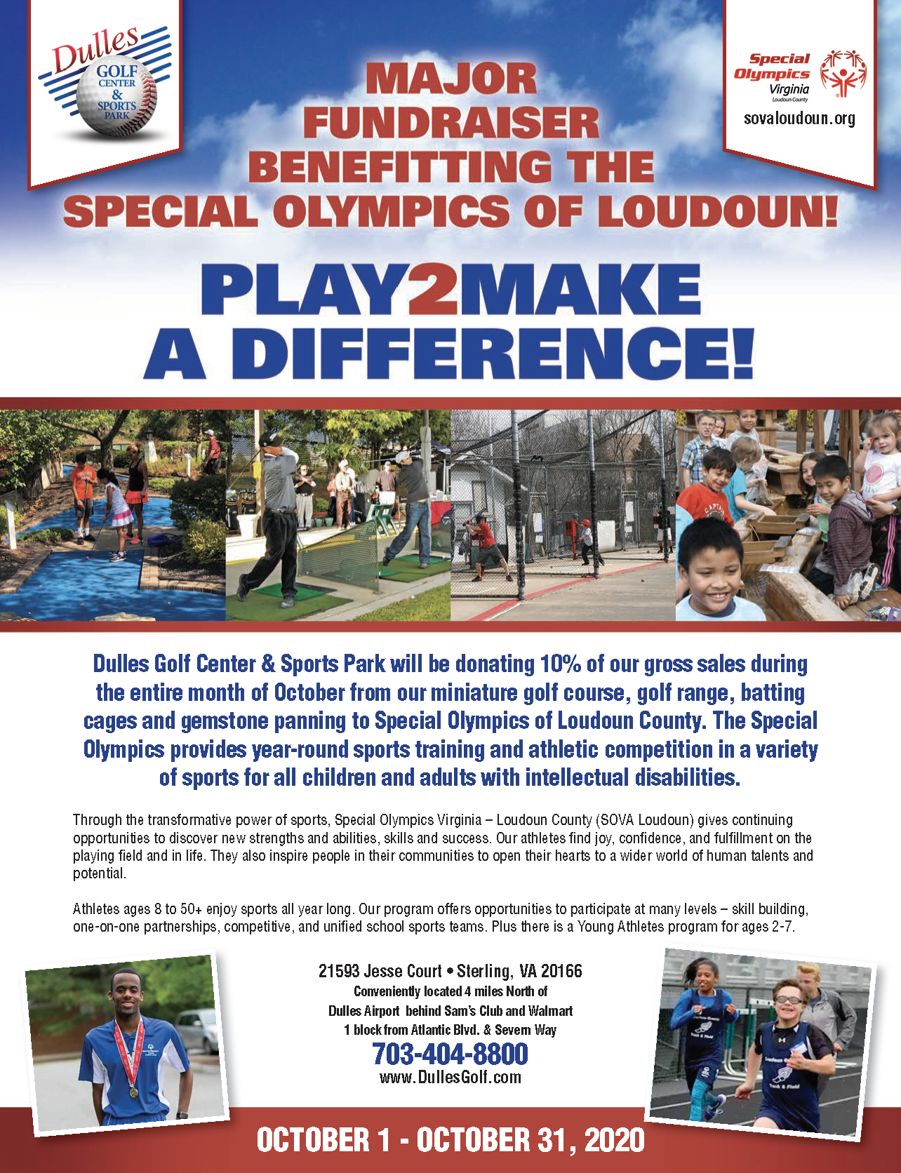 Major Fundraiser Benefitting The Special Olympics Of Loudoun Dulles Golf Center Sports Park